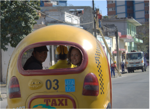 Coco cabs - winging it for dirt cheap - Cuba, Santiago de Cuba, travel, holiday, Nicola Gordon, ZoomTravels