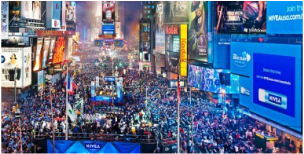 New Years Eve - watched by 1 billion people - United States, New York, New York City, Times Square, party, celebration, travel, holiday, Nicola Gordon, ZoomTravels